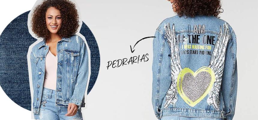 Jaqueta Jeans Asa Coração